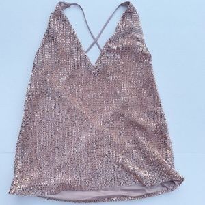 NWT Express Gold Sequin